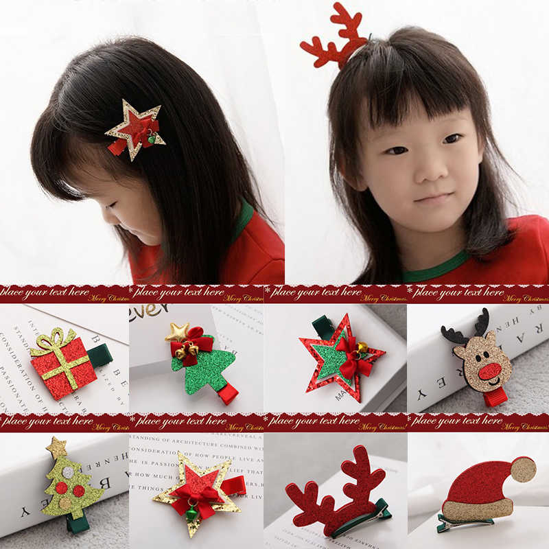 9a8871b68 Detail Feedback Questions about Christmas Baby Hair Clips Elk Tree Star  Baby Girl Hair Clips Kids Children Hairpins Barrette Headwrap Baby Hair  Accessories ...