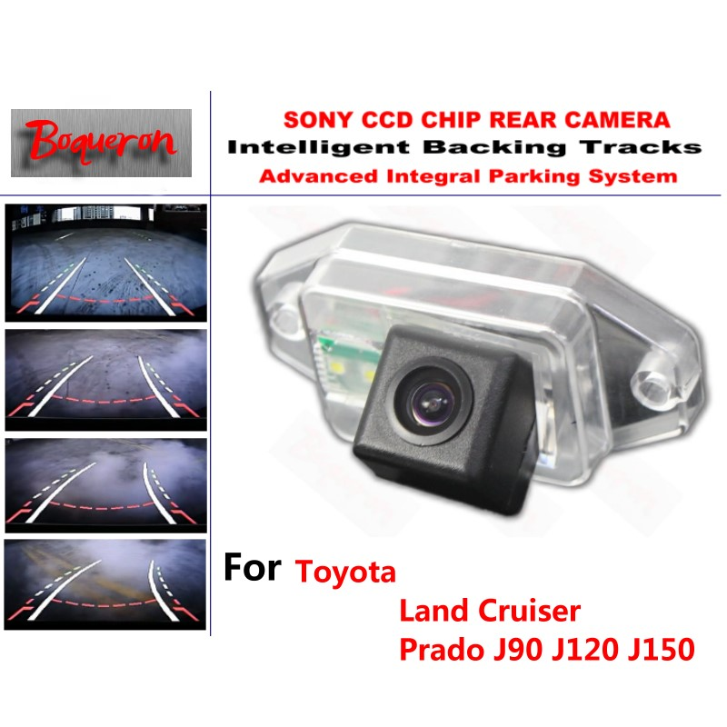 for Toyota Land Cruiser Prado J90 J120 J150 CCD Car Backup Parking Camera Intelligent Tracks Dynamic Guidance Rear View Camera(China (Mainland))