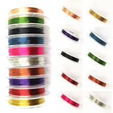 LNRRABC New 1 Roll 0.3mm Sturdy Alloy Copper Wire DIY Beading Wire Jewelry Making Cord/String 10 Colors