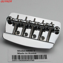 5 String Hard Tail Fixed Bass Electric Guitar Bridge Chrome(China)