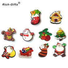 Customized Promotional Christmas Gifts PVC Soft Robber Fridge magnets Magnetic Sticker refrigerator Magnet souvenirs(China)
