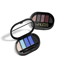 New 5 Color Make Up Shimmer Eyeshadow Palette Pigment Minerals Waterproof Glitter Powder Smoky Eyes Shadow Makeup Tool