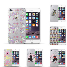 Most popular For coque iPhone 5 5S SE 6 6S 7 Plus Mickey Minnie TPU Soft Silicone Phone Case Skin Cover for capa iPhone 7 case