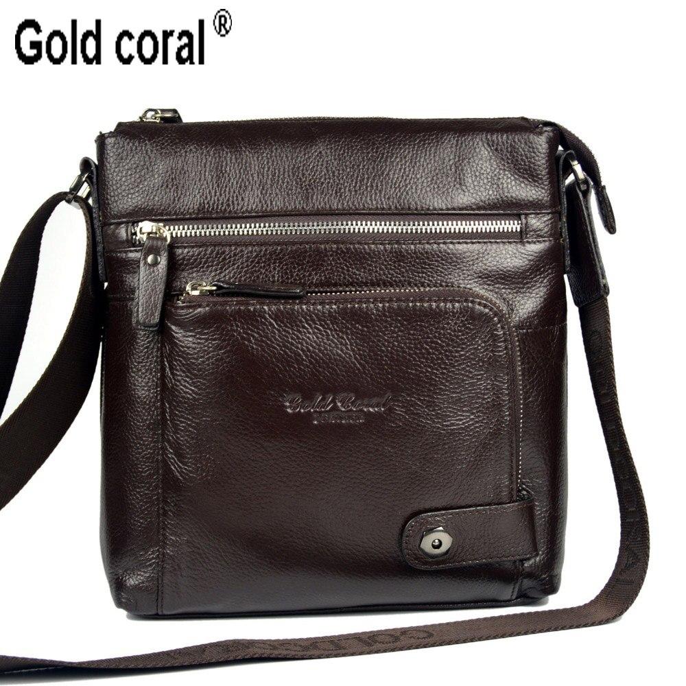 Black and coffee Color 100% Top GENUINE LEATHER mens messenger bag single cow skin shoulder bag  for men commercial leather bag<br>