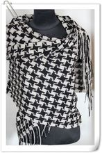 Free Shipping!! Black/White Ladies 100% Pashmina Shawl/Scarf warm Wrap