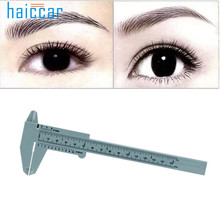 HAICAR 1PC Microblading Reusable Makeup Measure Eyebrow Guide Ruler Permanent Tools Tattoo Positioning Ruler Brand New Pretty(China)