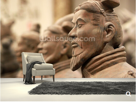 Custom vintage wallpaper, China Terracotta Warriors,3D photo mural for living room bedroom dining backdrop waterproof wallpaper<br><br>Aliexpress