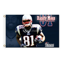 Randy Moss Wide Receiver 81 New England Patriots Flag Football Banners 3ft X 5ft Banner World Series Super Bowl Champions Flag