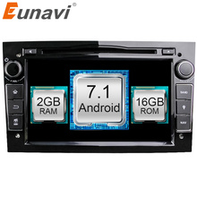 Eunavi Quad Core Android 7.1 2 din Car DVD Stereo for Vauxhall Opel Astra H G Vectra Antara Zafira Corsa GPS Navi Radio 2G(China)