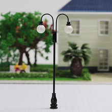 evemodel 5PCS  Model Railroad train Lamp posts Yard street light Lamps OO/HO scale LQS33 model train 1/76-1/87 railway modeling