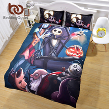 BeddingOutlet Nightmare Before Christmas Bedding Set Qualified Bedclothes Unique Design No Fading Duvet Cover Twin Full Queen