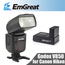 Godox V850 Speedlight Rechargeable Li-ion Battery Camera Speedlite Flash Canon Nikon Pentax Olympus - Shenzhen Emgreat Tech Store store