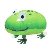 Funny Green Frog Animal Balloons Foil Walking Pet Gifts for Baby Boy Girl Kid Toys Zoo Theme Birthday Balloon