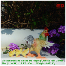 Everyday Collection Miniature Figurine Fairy Garden Terrarium Decoration Chicken Dad Crafts Unique Gift For Your Family Children(China)