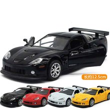 High Simulation Exquisite Diecasts&Toy Vehicles: KiNSMART Car Styling Chevrolet Corvette  Sports Car 1:36 Alloy Diecast Model