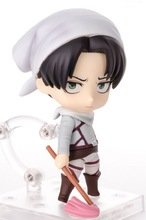 10cm Attack on Titan Levi Rivaille Rival Ackerman mobile cleaner Action figure toys doll collection Christmas gift(China)