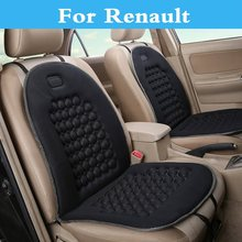 Buy New Car Seat Covers Cushion Auto 12V Electirc Seat massage Pad Renault Captur Clio RS Clio V6 Duster Fluence Kadjar Koleos for $21.21 in AliExpress store