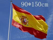 2017 New 150x90cm Feet Large Spanish Flag Polyester the Spain National Banner Home Decor(China)