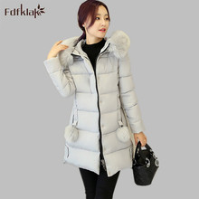 Korean Ladies Down Jackets Larger 2016 New Fashion Woman Winter Warm Coat Female Down Jacket Hooded Slim Plus Size M-XXL E0648