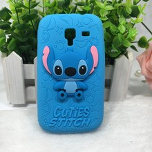 Cheapest 3D Cartoon Stitch Texture Silicone Soft Cover Back Phone Cases For Samsung Galaxy Ace 2 ace2 i8160 8160 gt-i8160