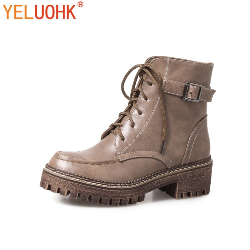 34-44 Ankle Boots For Women Winter Boots Platform Winter Shoes Women Warm Plush Big Size<br>