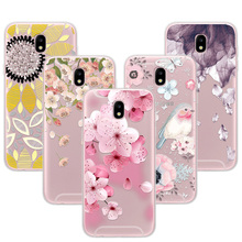 Buy 3D Relief Phone Case Cover Samsung Galaxy j5 2017 5.2 inch Floral Cartoon Lace Soft TPU Covers Coque Samsung j5 PRO j530 for $1.31 in AliExpress store