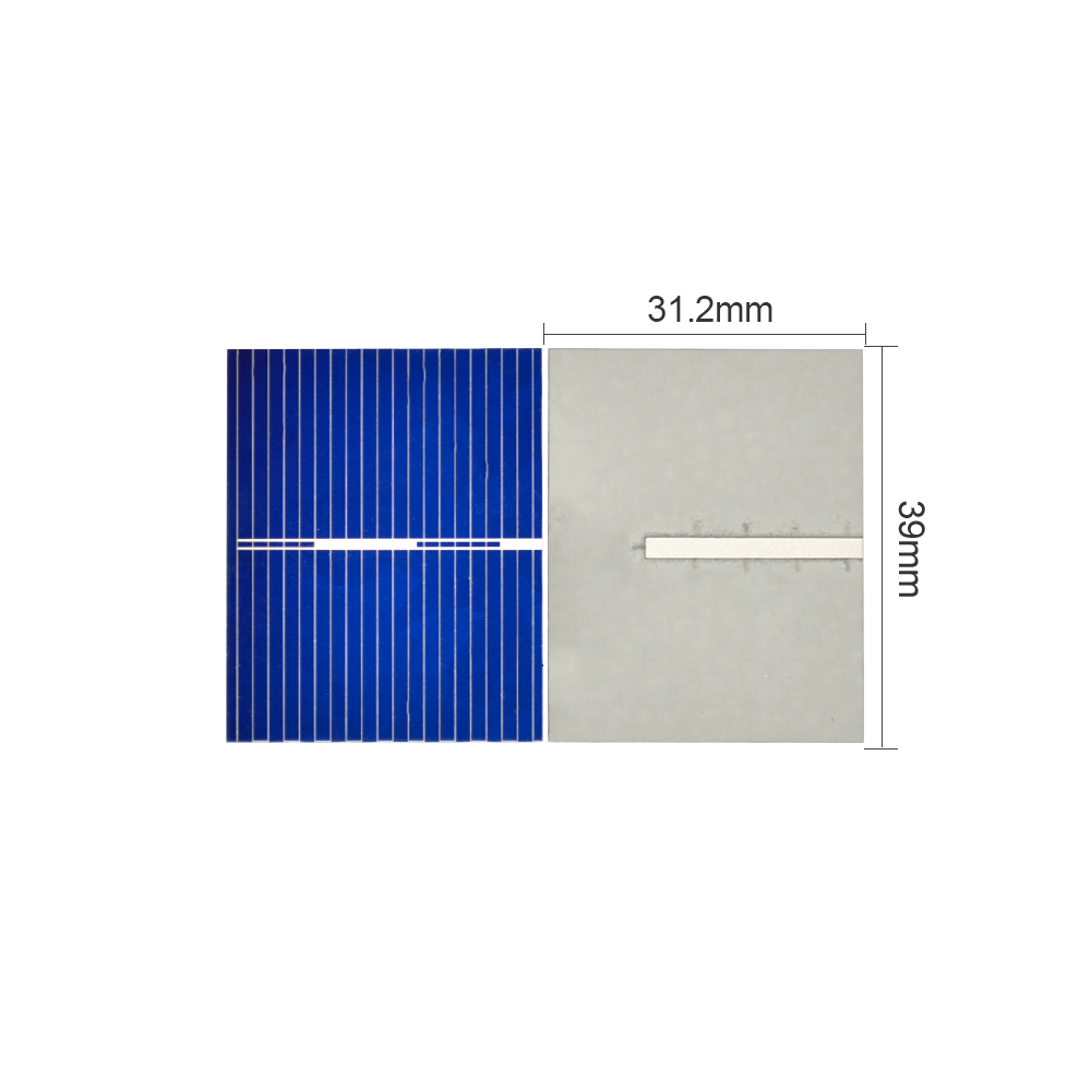 Aoshike 100pcs 0.5V 0.2W 0.4A 39*31.2mm Polycrystalline Silicon Solar Panel DIY Charger Battery Solar Cell 4