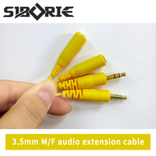 SIBORIE Audio Cable Jack 3.5mm 2 Males to 2 Female Earphone Extension Cable 3.5mm Headphone Splitter Adapter for iphone Laptop