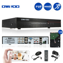 OWSOO 4CH Full 960H/D1 H.264 P2P Network DVR Video Recorder +1TB Seagate HDD Phone Control Motion Detection Home Security System