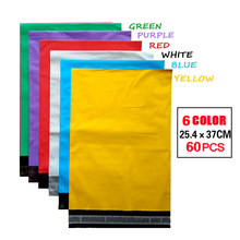 PE Color Mailing Bags Self-Seal Plastic Envelopes Poly Mailer Bags Green Red Yellow Blue White Purple Express bag[60pcs] 6 color