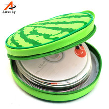 A Ausuky NEW Watermelon Pattern Portable 24 Disc Capacity DVD CD Pulse Case for Car Media Storage CD Bag -20(China)