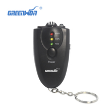 2pcs/lot NEW Portable Keychain LED Alcohol Breath Tester Breathalyzer key chain free shipping