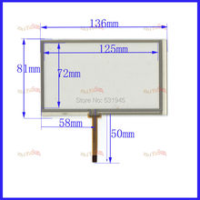 ZhiYuSun POST 5.4 touch screen for PIONEER AVH-P3200BT NEW GLASS for GPS touch free shipping 054005 136*81(China)