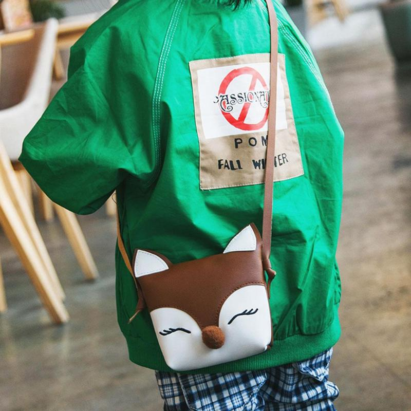 Baby Fox Cute Wallet Kids Sling PU Leather Shoulder Handbags Girls Flap  Children Crossbody Mini Bags Features  The fashion version of the  type concise but ... bb3bc807be