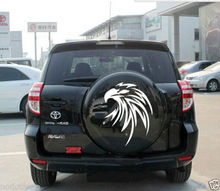 Car Styling for Car Decal Vinyl sticker Spare tire cover Hood decals Eagle for RAV4 #CG293 White(China)