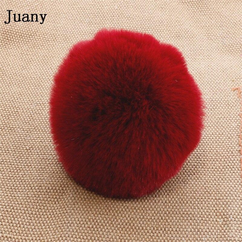 pompom key chain fluffy rabbit fur ball with bell key chain fake fur keychain women car bag key ring 7