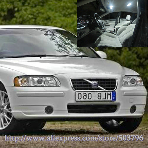 Free shipping 18pcs lot white 12 volt interior car led lights for volvo s60 2001 2009 in signal