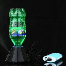 Practical USB Mini Air Mag Humidifier Water Bottle Ultrasonic Oil Diffuser Home Office Aromatherapy Mist Maker Aroma Lamp Black(China)