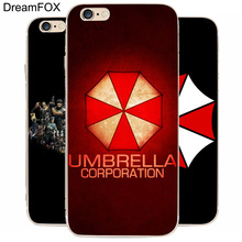 DREAM FOX K251 Umbrella Corporation Resident Transparent Hard Thin Case Cover For Apple iPhone 8 X 7 6 6S Plus 5 5S SE 5C 4 4S