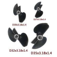 Two Blades 2 Blades Nylon Propeller Prop Set D27/30/32/35mm P1.4 For Electric Nitro RC Boat(China)