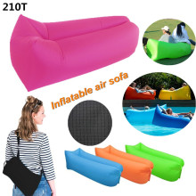 Portable Inflatable lounger Bag Air Sofa Sleeping Beach Bed Outdoor Lazy Bag Portable Air Bed Sleeping Sofa Couch for Travelling