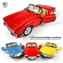 High Quality 1/32 scale metal diecast models car toys,alloy vintage classic Landaulet runabout cars(China)