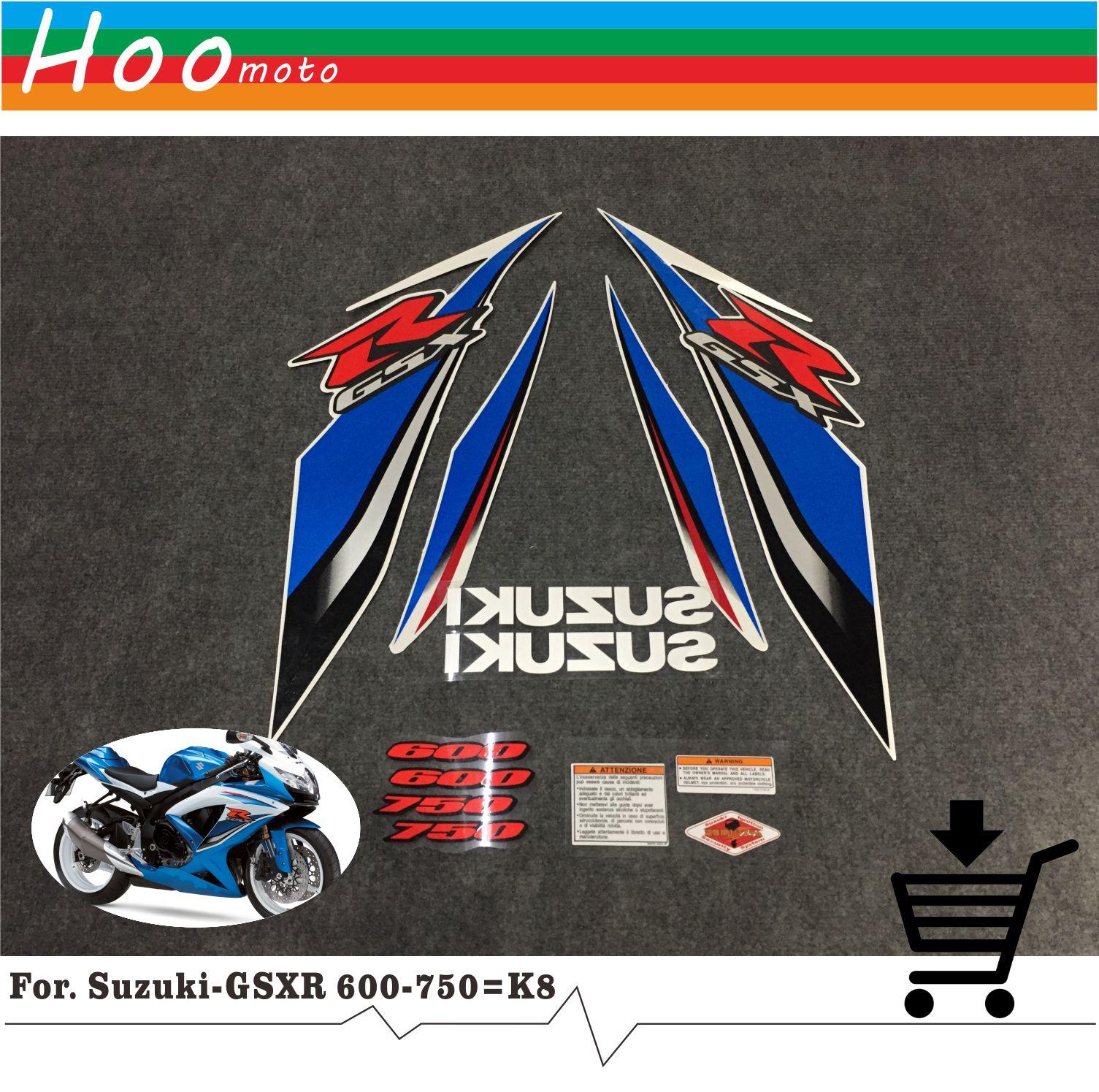 GSXR GSX-R GSX R 600 750 K8 08 years High Quality Decals Sticker Motorcycle Car-styling Stickers for Suzuki Decals Sticker MOTO<br>