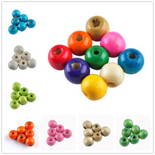 LNRRABC New Arrival! Pick Colors 10MM Natural Round Loose Wood Beads fro Jewelry Making Whole sale Lots 100 pieces ly
