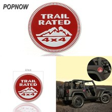 Universal 1x Red Trail Rated 4x4 Logo Car 3D Metal Emblem Sticker Badge Auto Car Styling Sticker For Jeep #5720