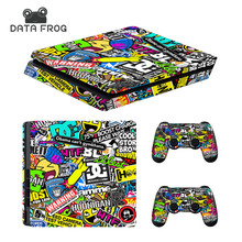 Custom Bomb Skin For PS4 Slim Console Sticker For Sony Playstaion 4 PS4 Slim Skins + 2Pcs Controller Protective Cover(China)