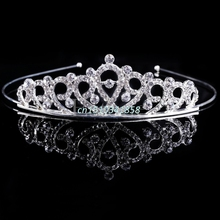 Bridal Wedding Hair Accessories Crystal Rhinestone Crown Headband Stunning Crystal Tiara Wedding Crown Children Tiaras Headband(China)