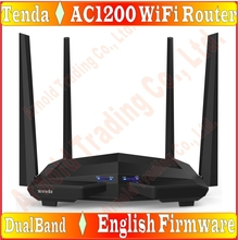 Eng-Firmware EU/US/AU/UK plug, Tenda AC10 1200Mbps 11AC 2.4G/5GHz Wireless Router, Smart APP Manage,1WAN+3LAN Gigabit Port Prom-(China)