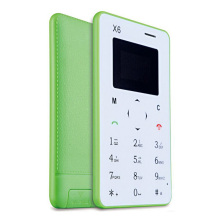 New arrival Ultra Thin AIEK/AEKU X6 Mini Cell Card Phone Student Unlocked Mini Mobile Phone Pocket Multi Language