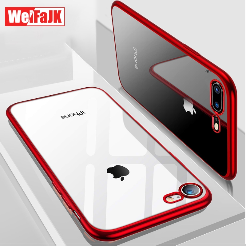 WeiFaJK Phone Case for iPhone 8 7 6 Plus 6s Silicone Soft Coque Luxury TPU Full Clear Back Cover for iPhone 7 8 X XR XS Max Case(China)